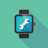 Smart watch with a wrench