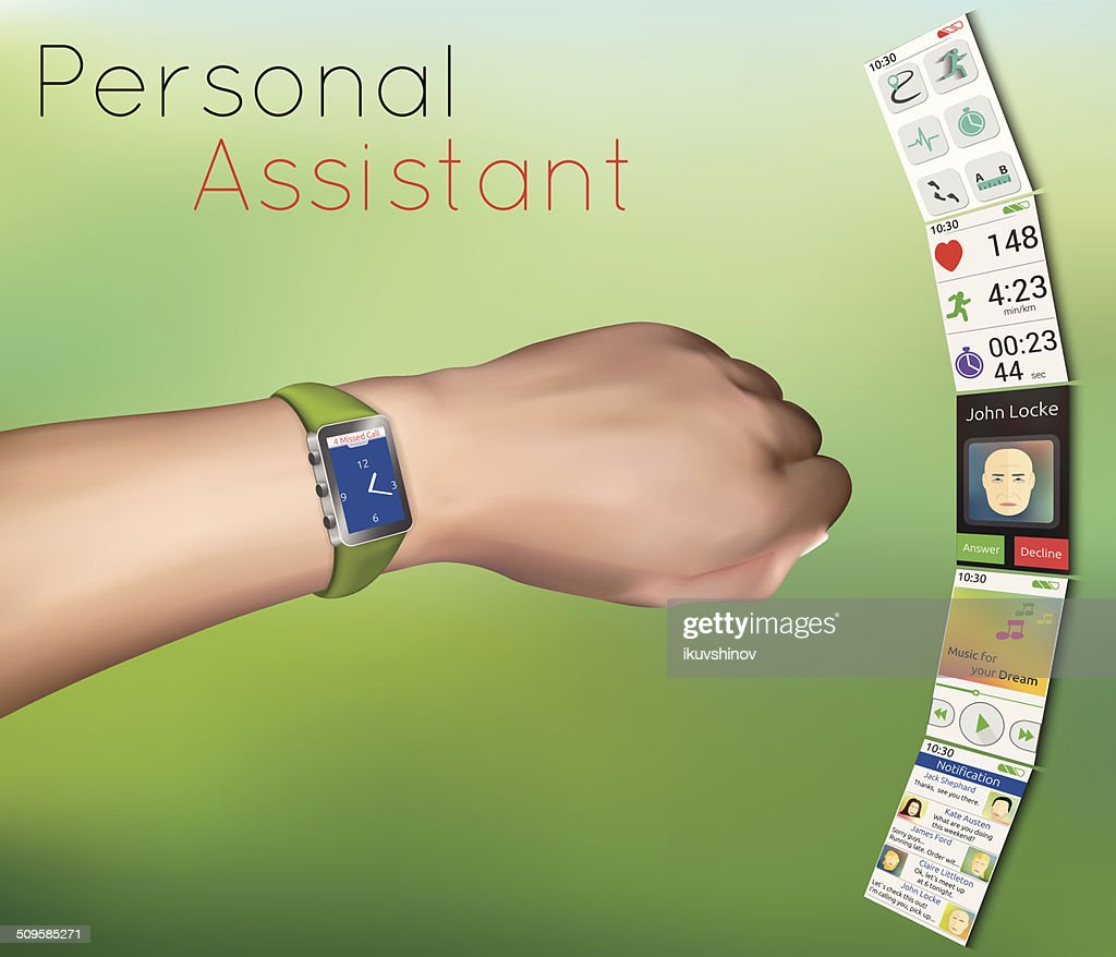smart watches with applications on hand