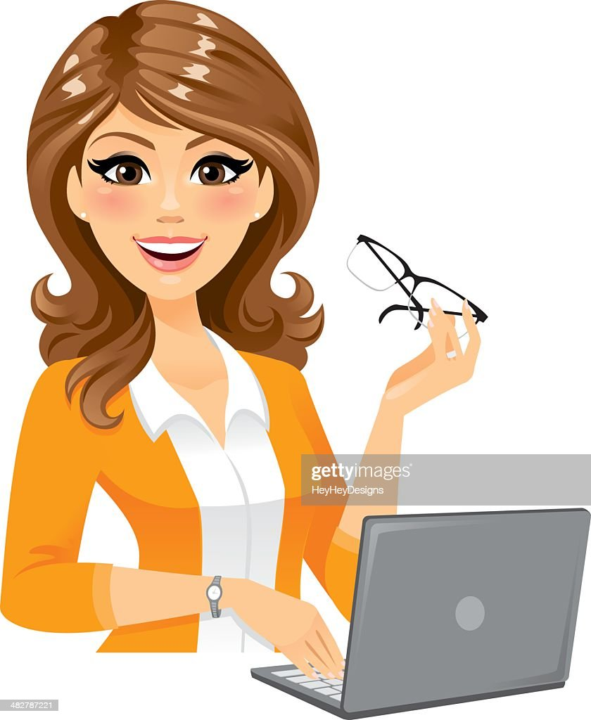 Smart Woman With Laptop
