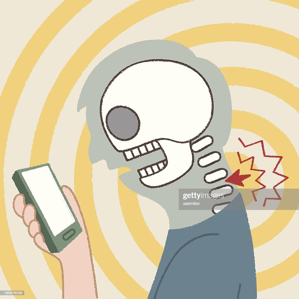 Smartphone Addiction : stock illustration