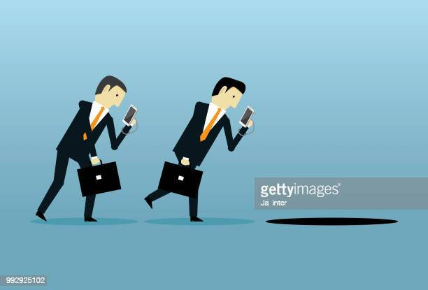 smartphone addiction - access control stock illustrations, clip art, cartoons, & icons