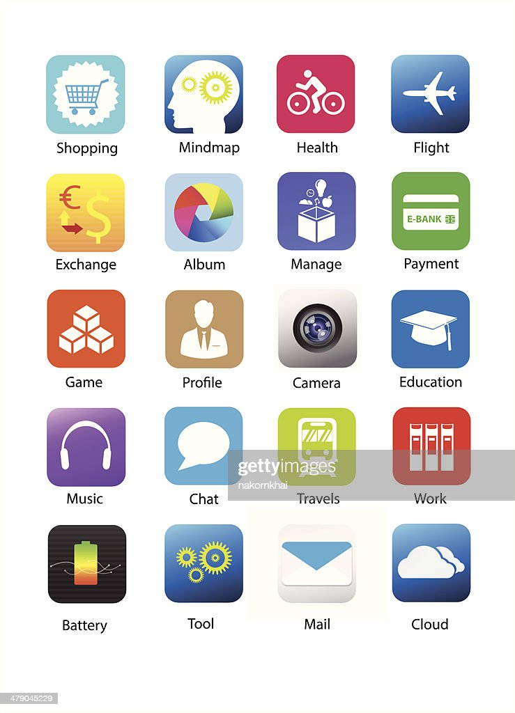 Smartphone application icon set 3
