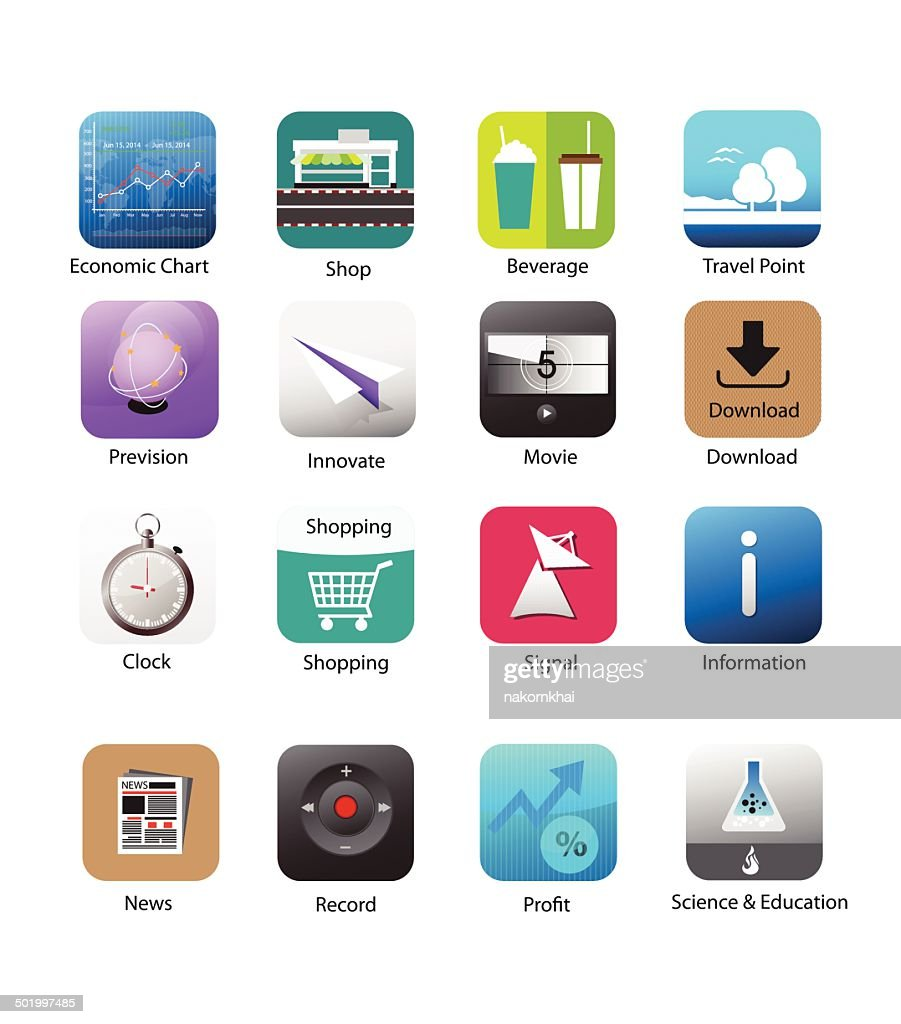 Smartphone application icon set 5