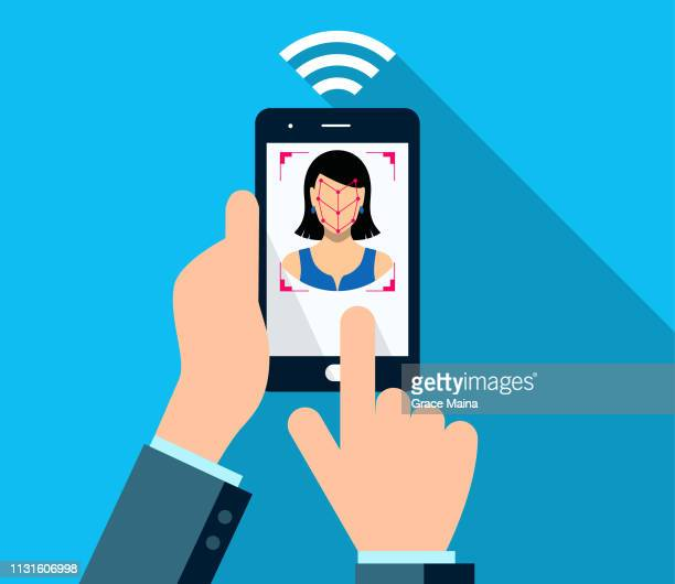 Smartphone Bio-metrics Of A Woman , Face Detection, Recognition And Identification
