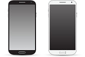 Smartphone black and white realistic