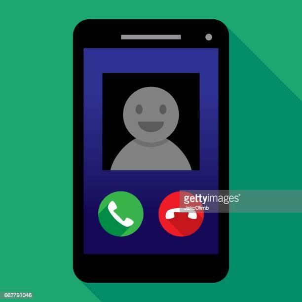 stockillustraties, clipart, cartoons en iconen met smartphone oproep - voip