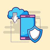 smartphone clod storage download shield