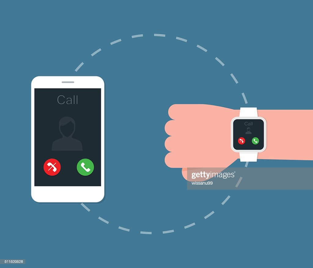Smartphone connect to Smart watch.