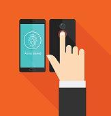 Smartphone fingerprint scanner access