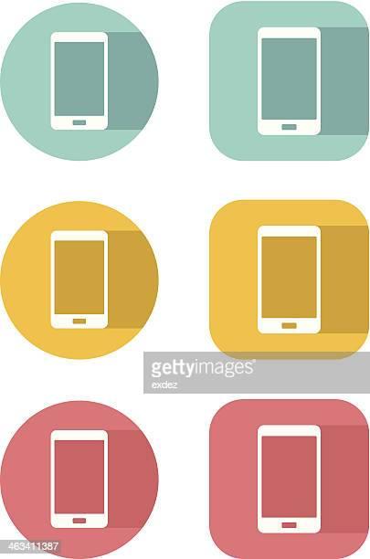 Smartphone Flat icon set