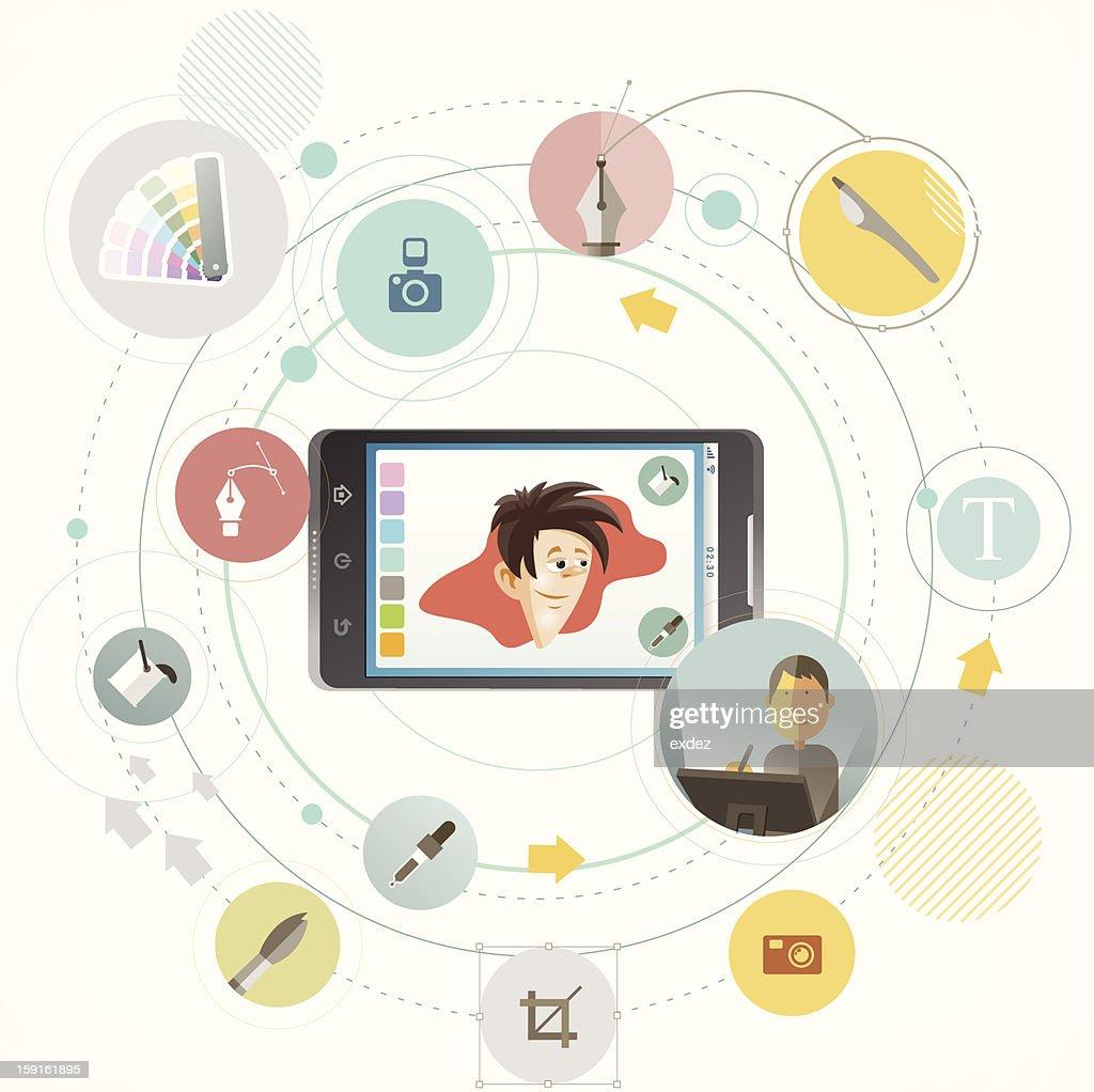 Smartphone for Artists : Vectorkunst