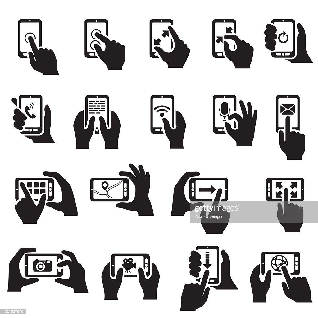 Smartphone Functions Icon Set