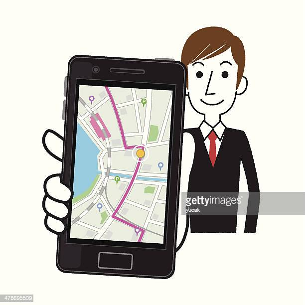 Smartphone gps system