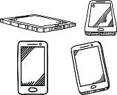 smartphone  hand drawn sketch