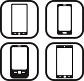 Smartphone icon - four variations
