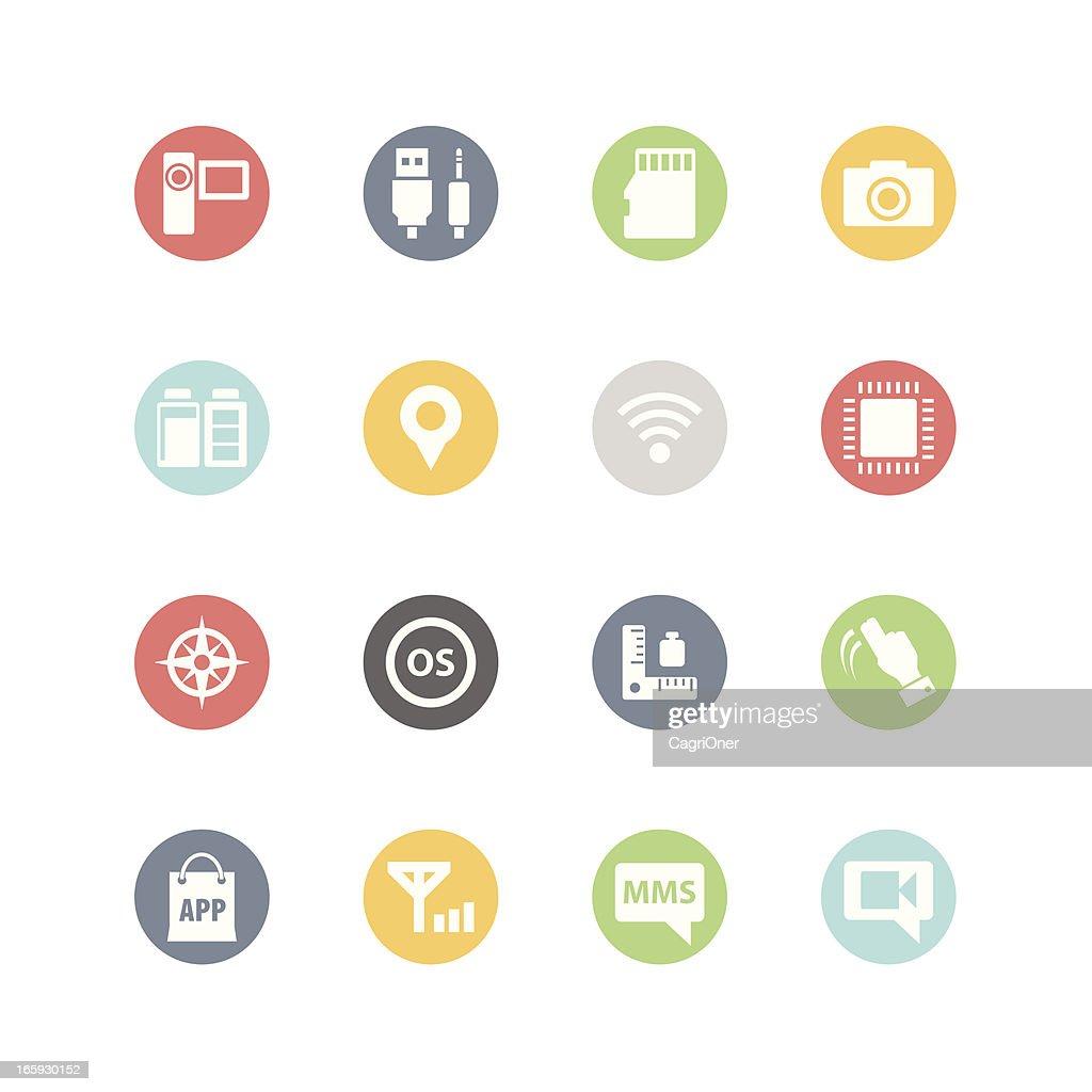 Smartphone Icons : Minimal Style
