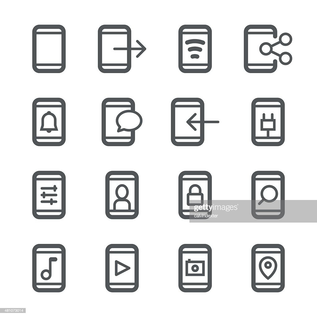 Smartphone icons | Stroke Series