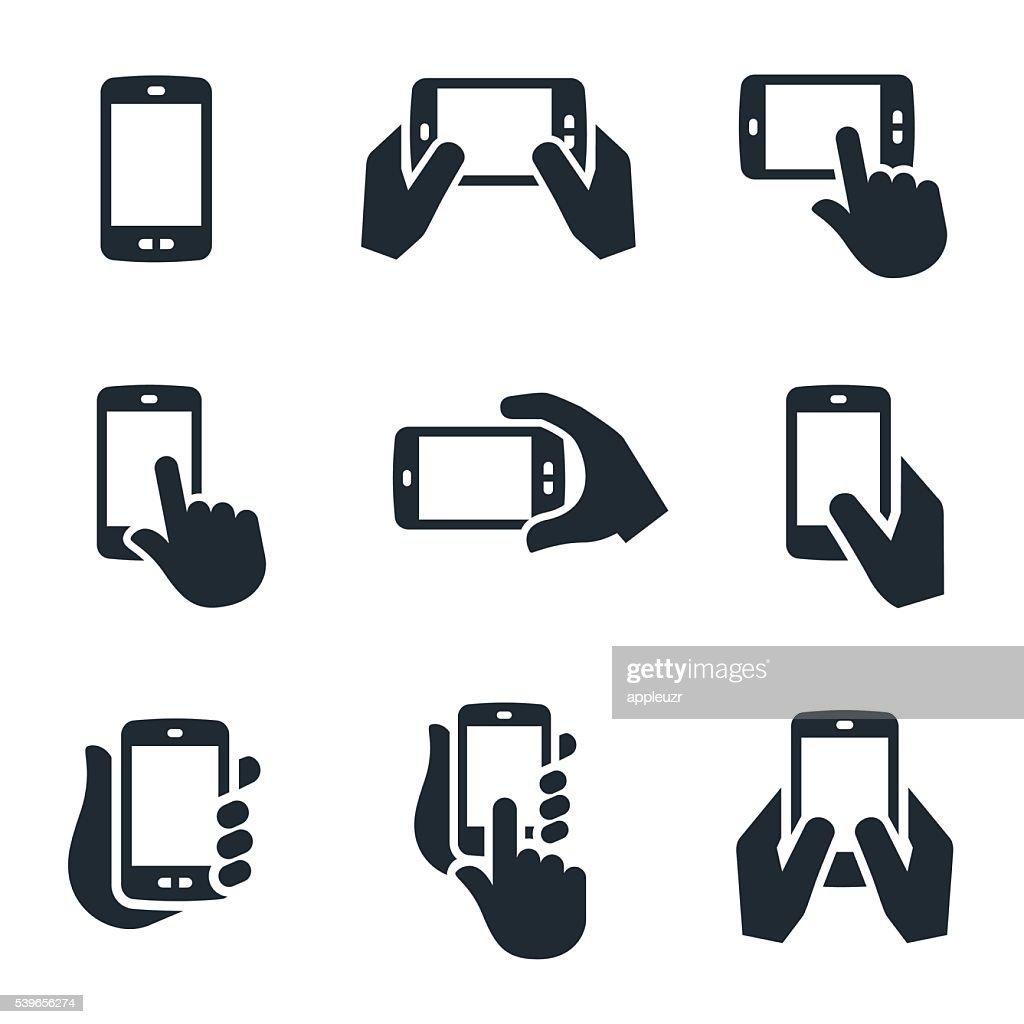 Smartphone-Icons : Stock-Illustration