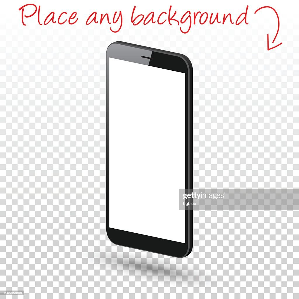 smartphone isolated on blank background mobile phone template vector