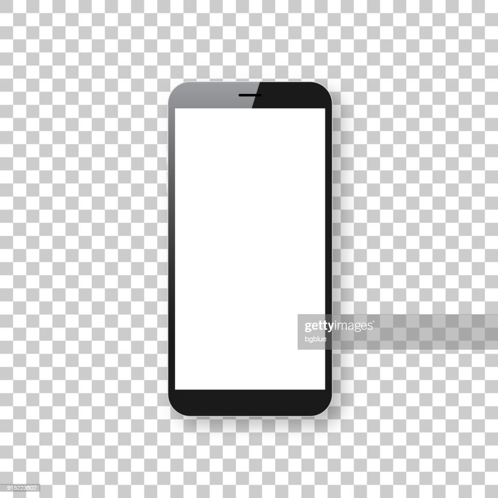 Smartphone isolated on blank background - Mobile Phone Template : stock illustration
