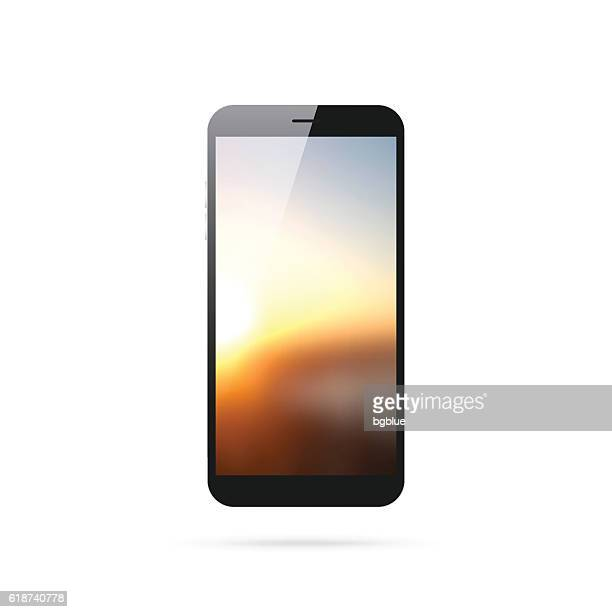 Smartphone isolated on White Background - Mobile Phone Template