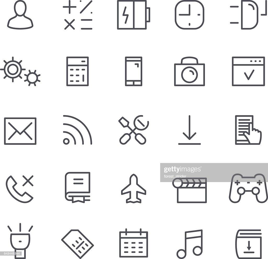 Smartphone line Icons