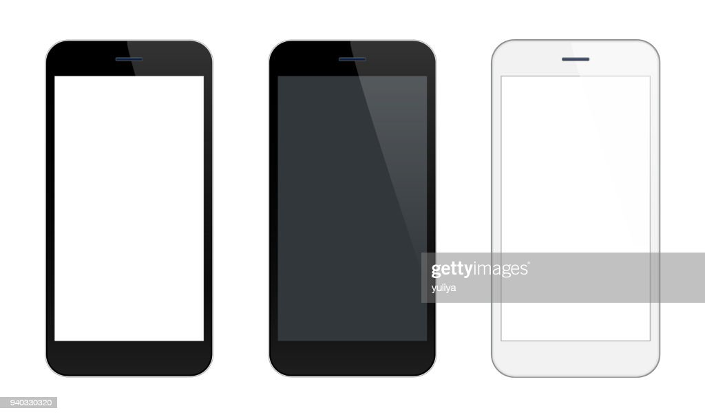 Smartphone Mobile Phone Black and Silver Colors