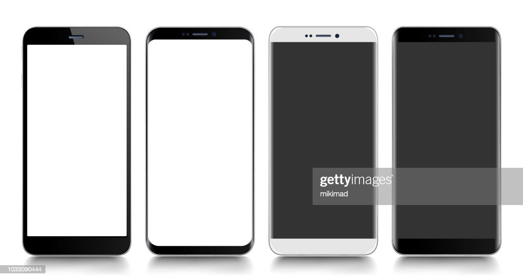 Smartphone. Mobile phone. Telephone. Realistic vector  illustration : Stock Illustration