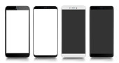 Smartphone. Mobile phone. Telephone. Realistic vector  illustration