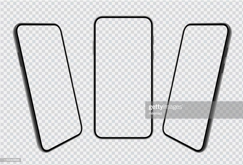 Smartphone Modele De Telephone Mobile Telephone Illustration Vectorielle Realiste Des Appareils Numeriques 3d Illustration Getty Images