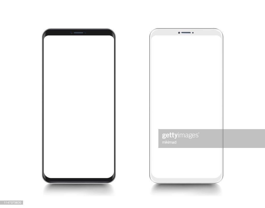 Smartphone. Handy Vorlage. das Telefon. Realistische Vektordarstellung digitaler Geräte : Stock-Illustration