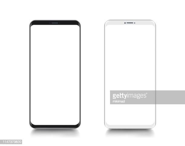 smartphone. mobile phone template. telephone. realistic vector illustration of digital devices - mobile phone stock illustrations