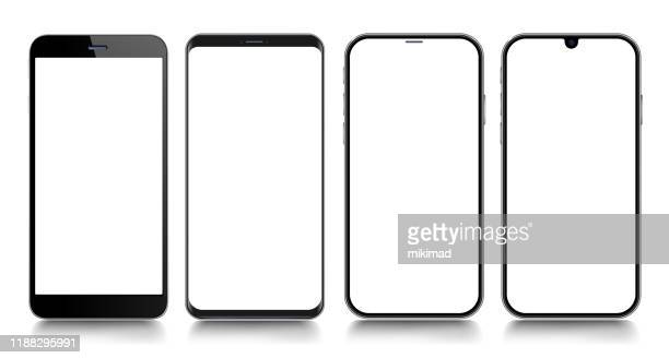 スマート フォン。携帯電話テンプレート。電話。デジタルデバイスのリアルなベクトルイラスト - 電子手帳点のイラスト素材/クリップアート素材/マンガ素材/アイコン素材