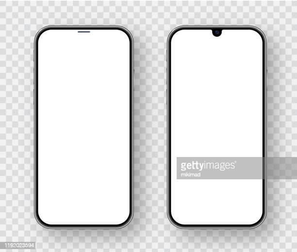 スマート フォン。携帯電話テンプレート。電話。デジタルデバイスのリアルなベクトルイラスト - iphone点のイラスト素材/クリップアート素材/マンガ素材/アイコン素材