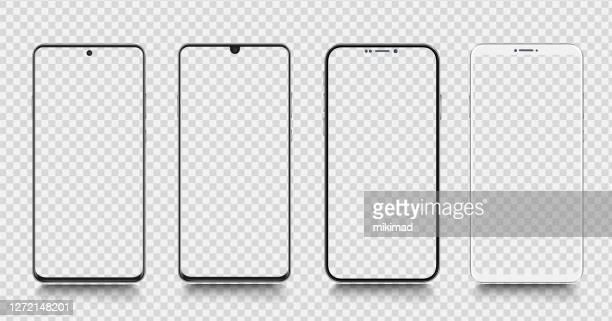 smartphone. handy-vorlage. telefon. realistische vektordarstellung digitaler geräte - smartphone stock-grafiken, -clipart, -cartoons und -symbole
