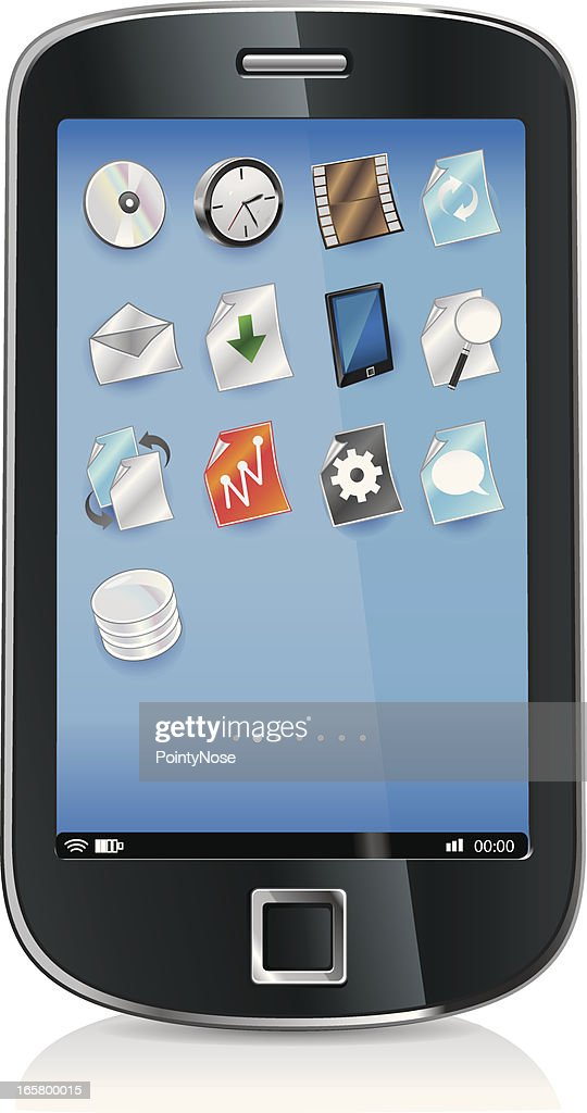 SmartPhone, OS and icons : stock illustration