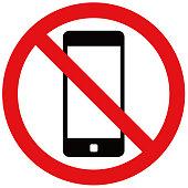 Smartphone prohibition mark.
