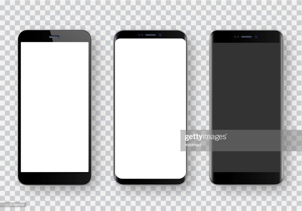 Smartphone, realistische Vektor-illustration : Stock-Illustration