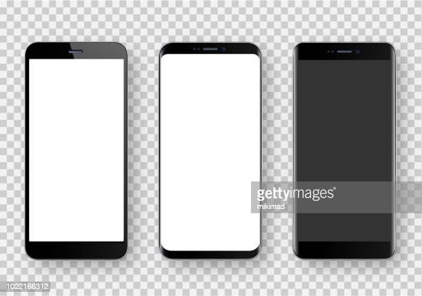 smartphone, realistic vector  illustration - mobile phone stock illustrations