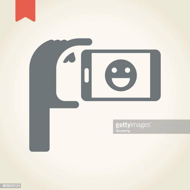 Smartphone selfie icon