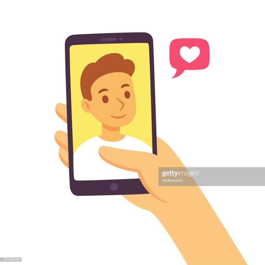 Smartphone social communication concept
