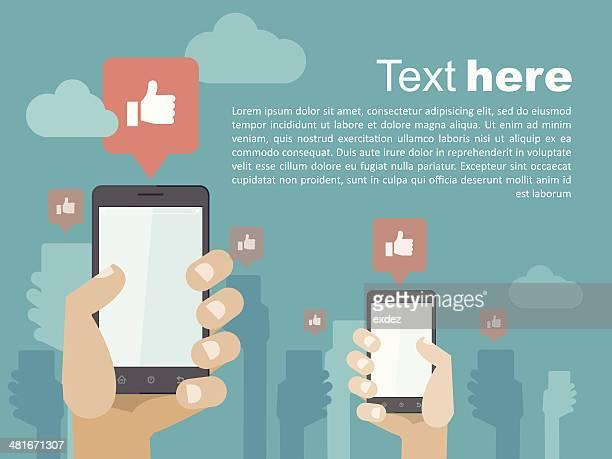 Smartphone social copyspace