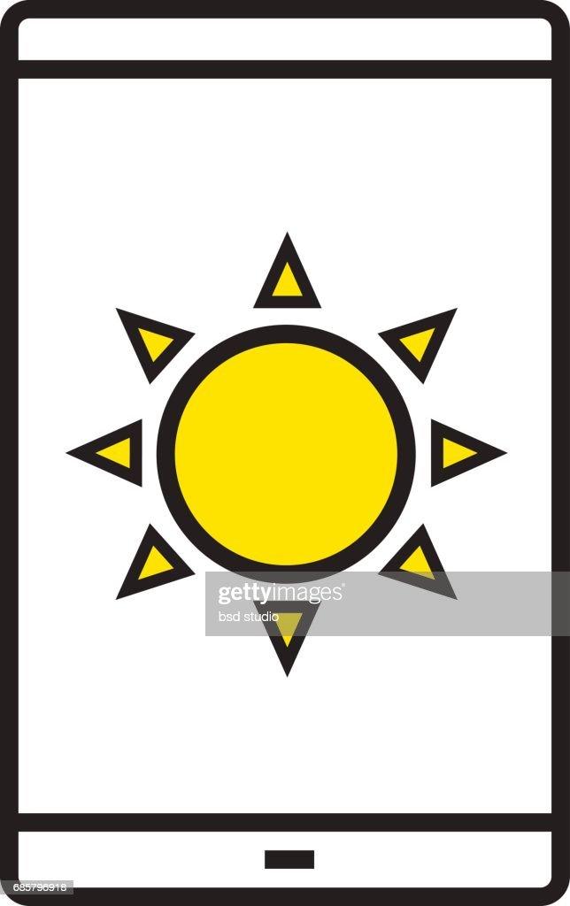 Smartphone Solar Ladesymbol Vektorgrafik | Getty Images