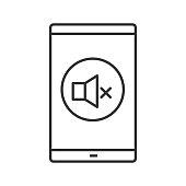 Smartphone sound turning off icon