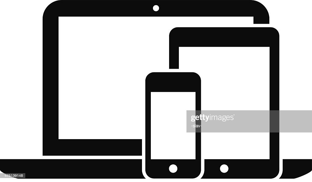 smartphone, tablet and laptop