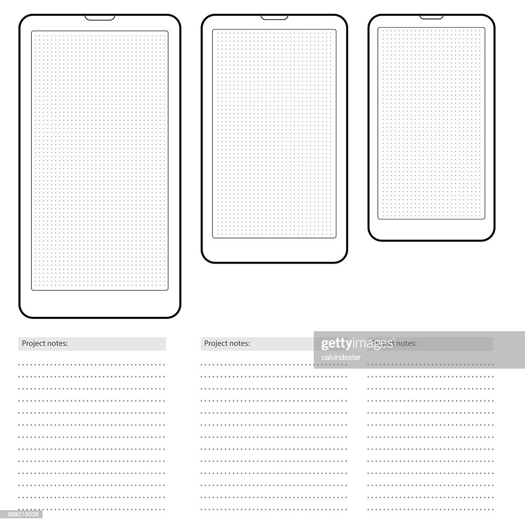 Smartphone Template With Dot Grid Vector Art | Getty Images