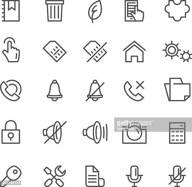 ilustraciones, imágenes clip art, dibujos animados e iconos de stock de web y los iconos de aplicaciones smartphone - sistema operativo