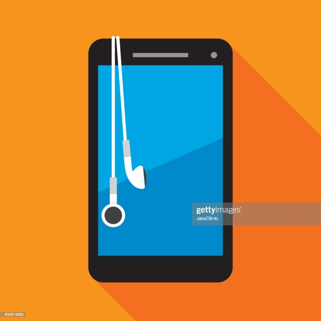 Smartphone with Earbuds
