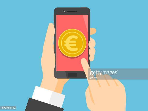 Smartphone with euro on display