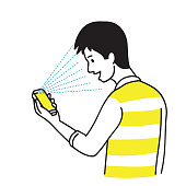 Smartphone with face scan unlock